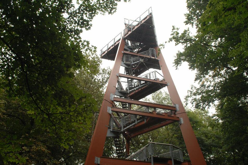 Der Aussichtsturm auf dem Schlechteberg ist Anfang des Jahres abgerissen worden.