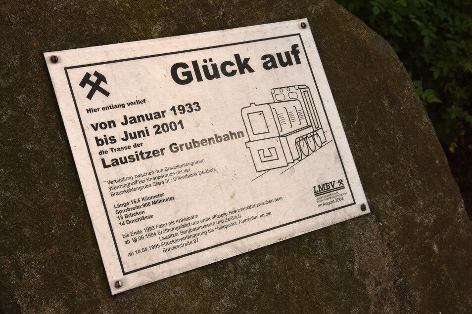 Detail der Grubenbahn-Erinnerungsstätte in Scheckthal.