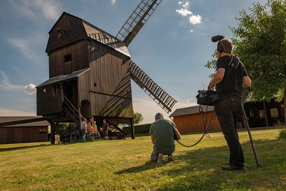 Der MDR drehte Anfang Juni in Ebersbach an der Bockwindmühle - am 3. Juli wird die Sendung ausgestrahlt.