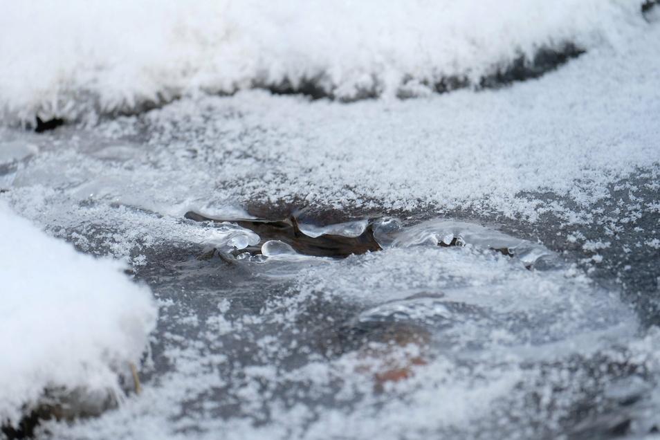 Eiseskälte macht sich im Landkreis Meißen breit. Sie wird wohl noch ein paar Tage halten. Für Gerd Melchinger ein Glücksfall: So bleiben seine Schneeskulpturen möglichst lange erhalten.