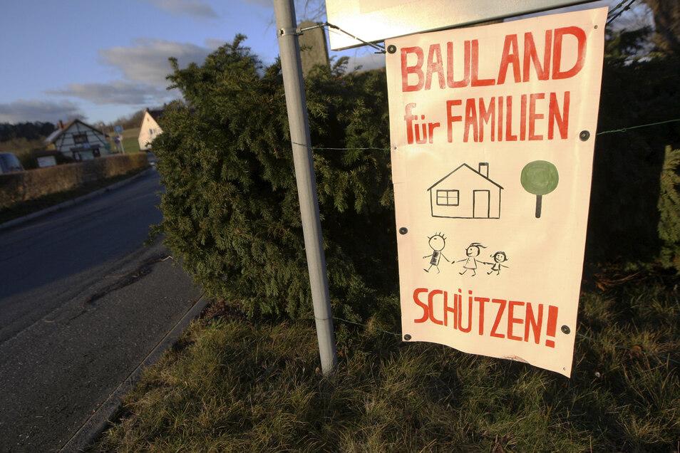 Bauland für Familien statt Saunapark. Das fordern viele Weißiger.