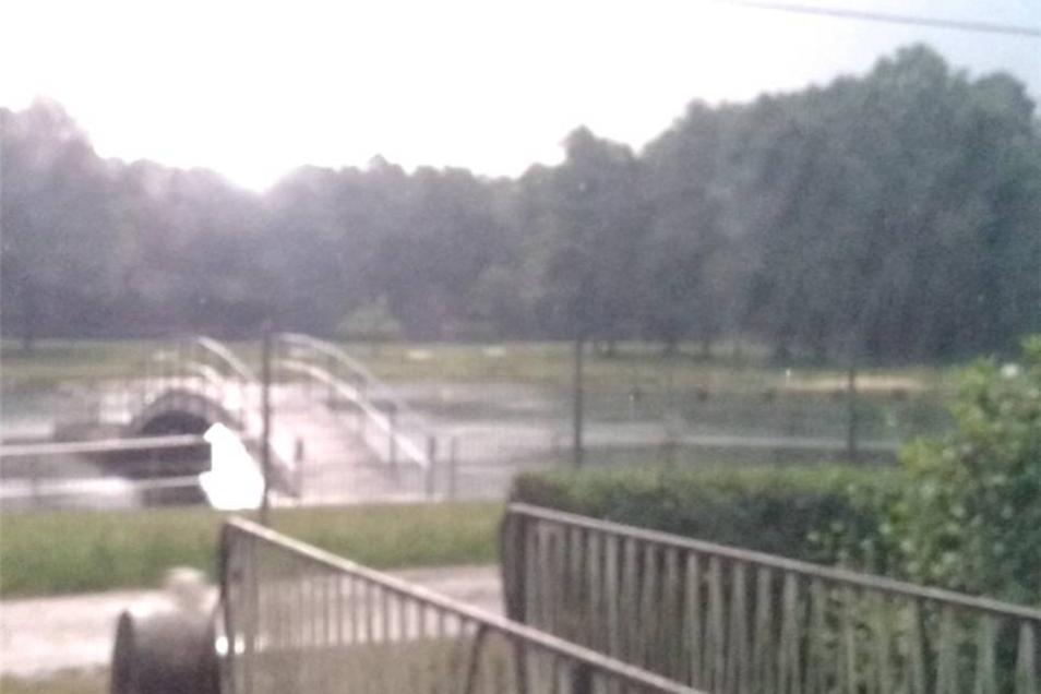 Das Unwetter tobte auch über Pulsnitz.