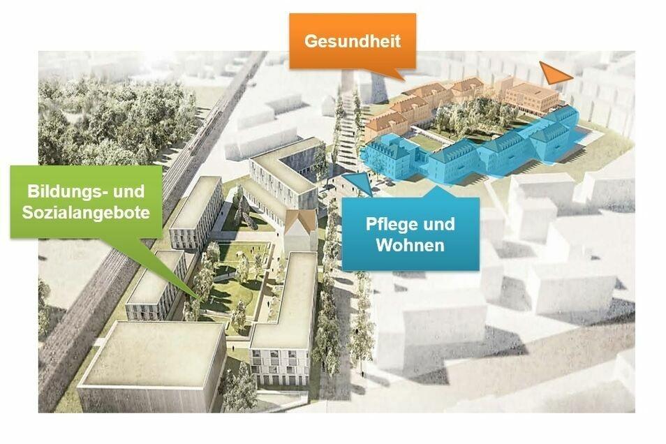 Dieser Plan für das Neustädter Krankenhaus in Trachau liegt nun erst einmal auf Eis.