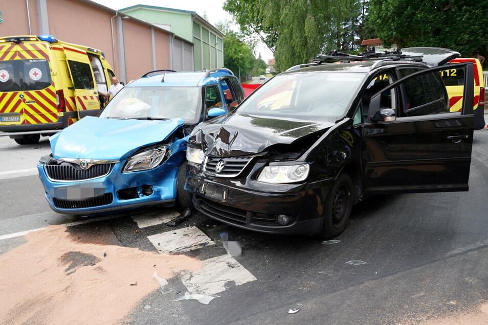 Am Montagnachmittag stießen in Kirschau zwei Pkw zusammen.