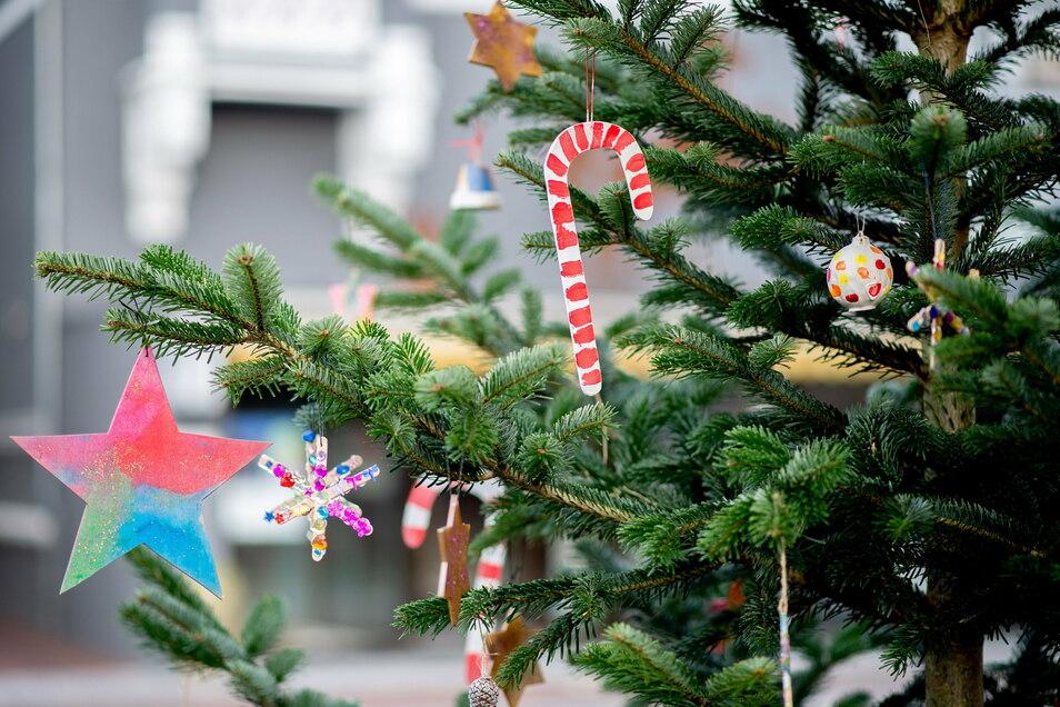 Mit einem etwas anderem Schmuck soll der Weihnachtsbaum in der Heidenauer Bibliothek jetzt geschmückt werden.