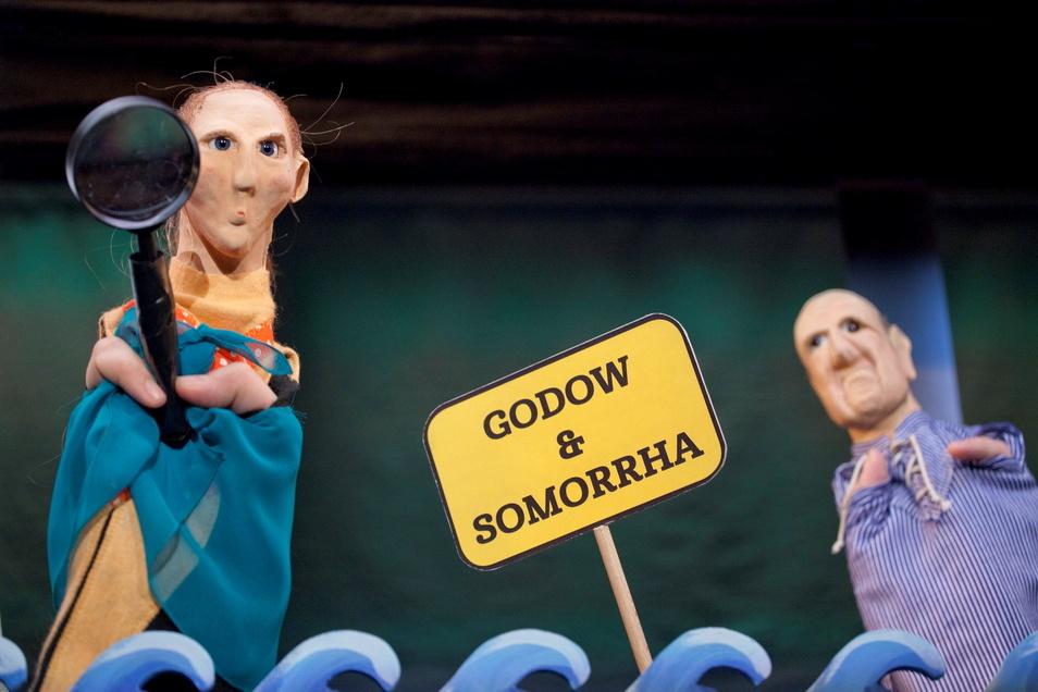 """Am Sonnabend feierte das Puppentheaterstück """"Godow & Somorrha"""" im Bautzener Theater Premiere."""