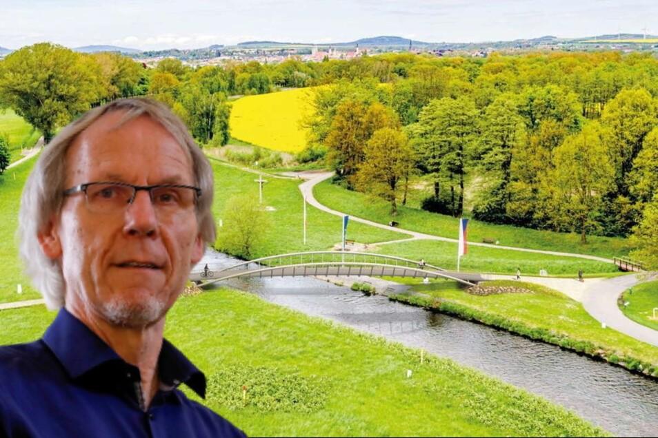 Derzeit ist eine Zwei-Länder-Brücke am Dreiländerpunkt der Favorit. Horst Schiermeyer fordert jedoch, an der Drei-Länder-Variante festzuhalten.