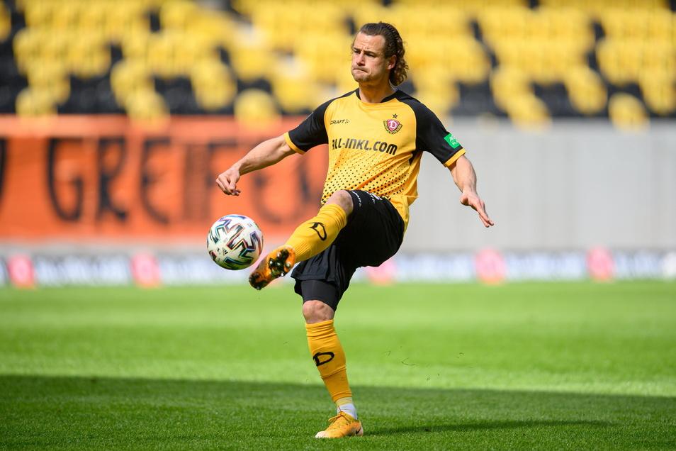 Yannick Stark ist nach Verletzung bei Dynamo wieder am Ball und mit seiner Erfahrung für den Endspurt im Kampf um den Aufstieg besonders wichtig.