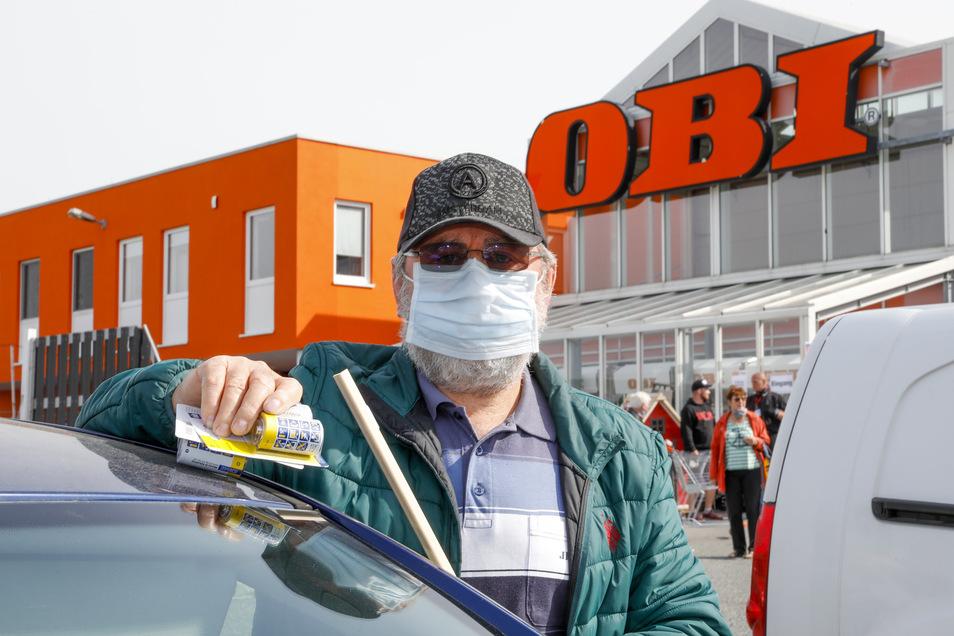 Kunden wie Gunther Freund haben bei Obi in Löbau bekommen, was sie wollten - inzwischen auch ohne Wartezeiten.