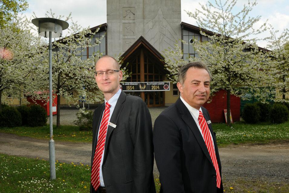 Der bisherige Sparkassen-Vorstand: Michael Bräuer (li.) und Frank Hensel.
