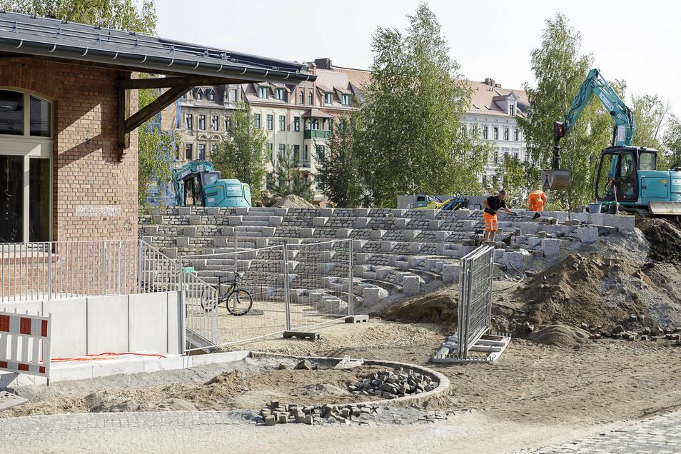 Erstmals bekommt eine Görlitzer Schule ein eigenes Amphitheater für Theater- und andere Aufführungen. Die sind zum Teil öffentlich und können den entstehenden Brautwiesenbogen mit beleben.