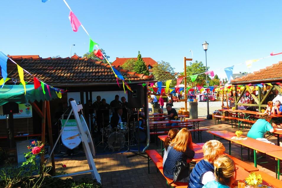 So sah des Herbstfest in Possendorf im letzten Jahr aus. Wegen Corona fällt es nun etwas kleiner aus.