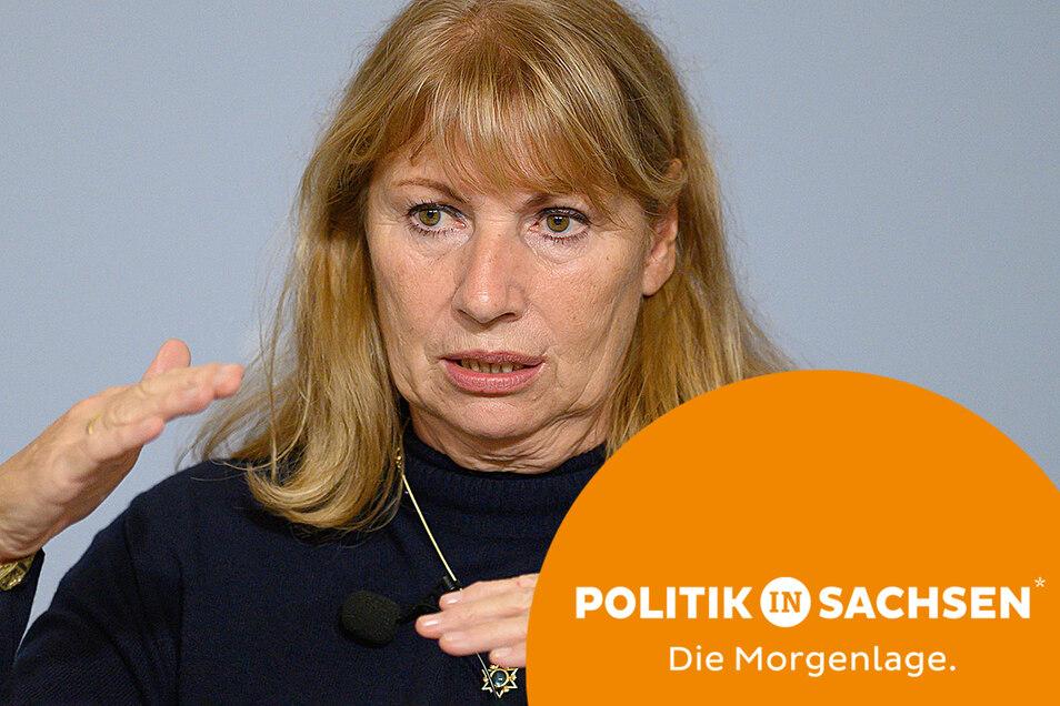 Gesundheitsministerin Petra Köpping (SPD) stellte am Dienstag Eckpunkte der neuen Corona-Schutzverordnung vor.