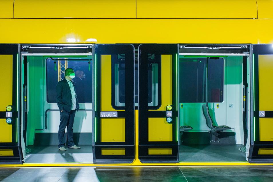 So sieht Dresdens neue Straßenbahn aus.
