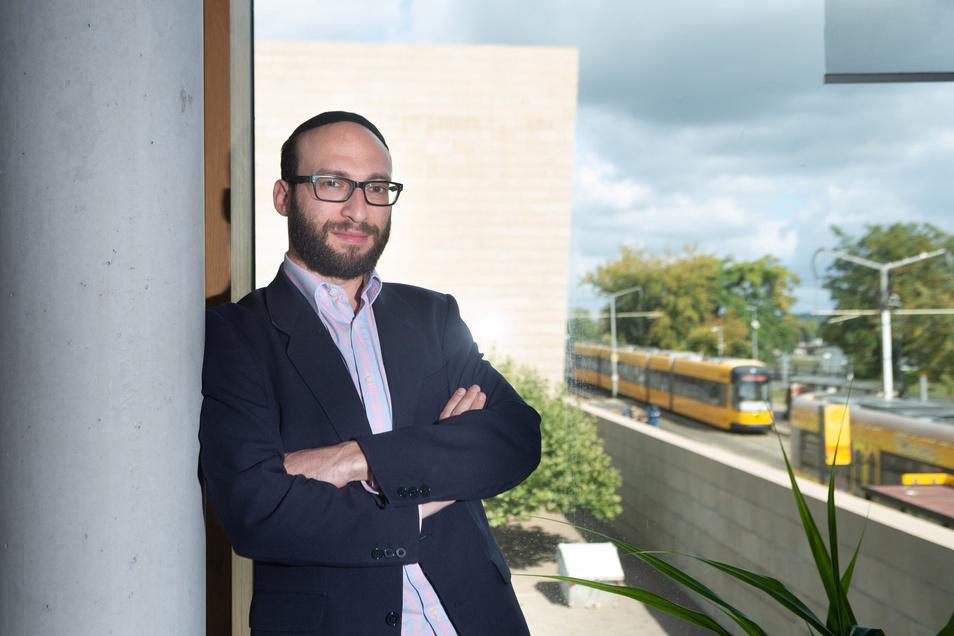 Als Rabbiner steht Akiva Weingarten nicht nur der Jüdischen Gemeinde Dresden mit ihren 750 Mitgliedern vor. Er betreut auch die Jüdische Gemeinde in Basel, ist also Berufspendler.