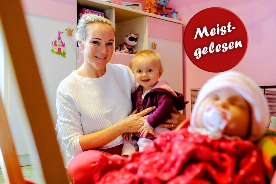 Alma, acht Monate alt, macht die Familie vollständig. Sie ist das dritte leibliche Kind von Katja Schollbach. Auch drei Pflegekinder haben bei ihr ein neues Zuhause gefunden.