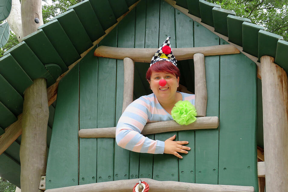 Katrin Klein ist bei Kube 42 auch für den einen oder anderen Spaß zu haben.
