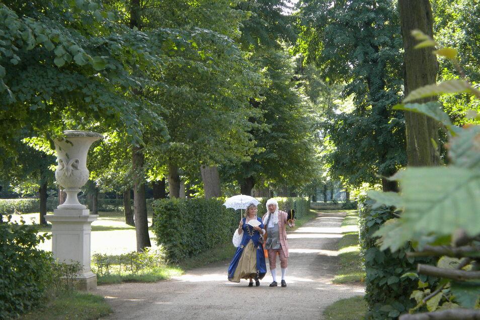 Ein Spaziergang durch den Barockgarten ist zu jeder Jahreszeit ein Erlebnis.