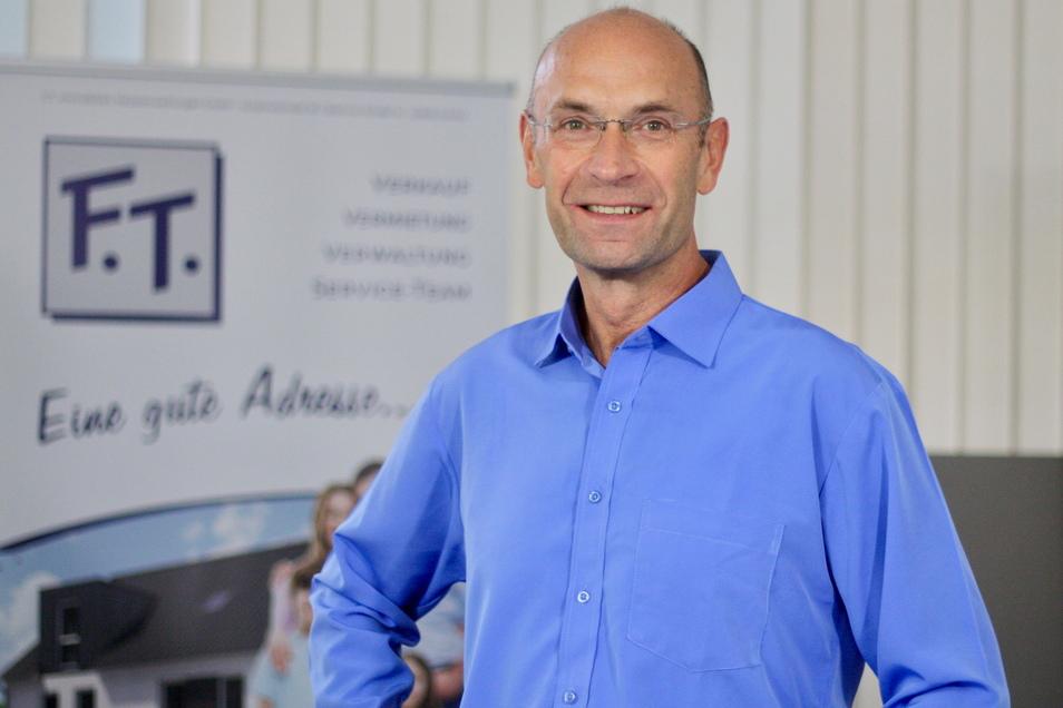 Frank Tews, Geschäftsführer der Görlitzer Firma F.T. Immobilien, feiert 25. Firmengeburtstag.