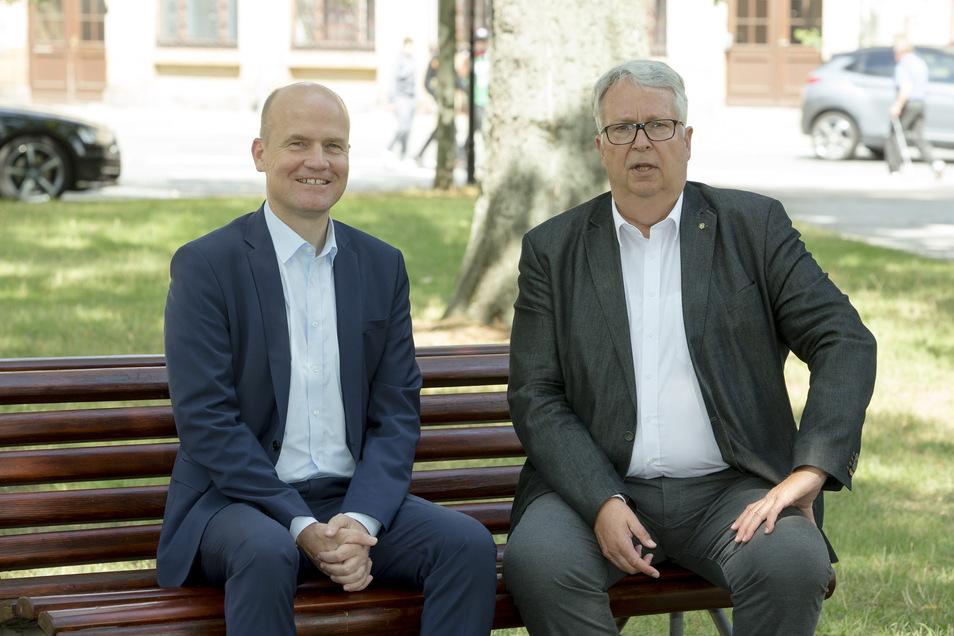 Ralph Brinkhaus, Chef der CDU-Bundestagsfraktion (l.), war am Montag der Stargast von Geert Mackenroth.