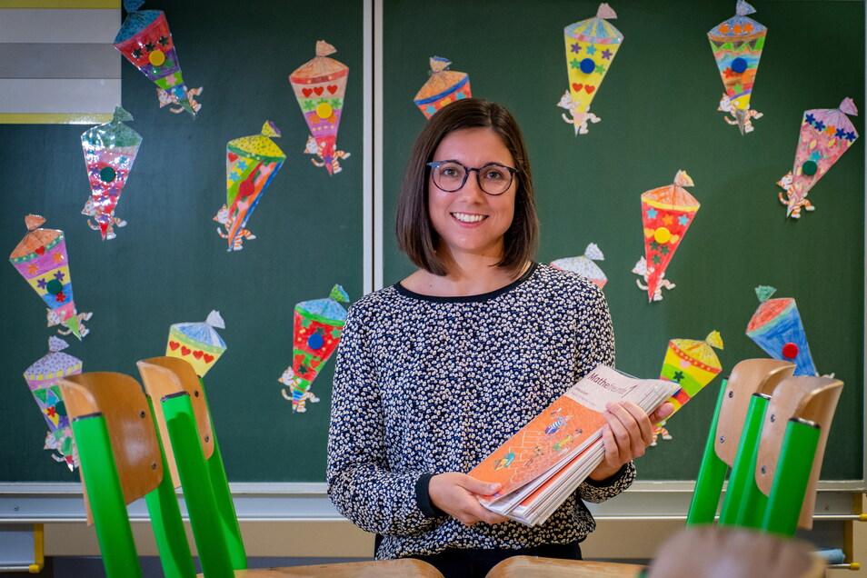 Die neue Schulleiterin Bianca Ehrlich freut sich schon auf die Erstklässler. In der Klasse 1/2 wird sie unter anderem Mathematik unterrichten.