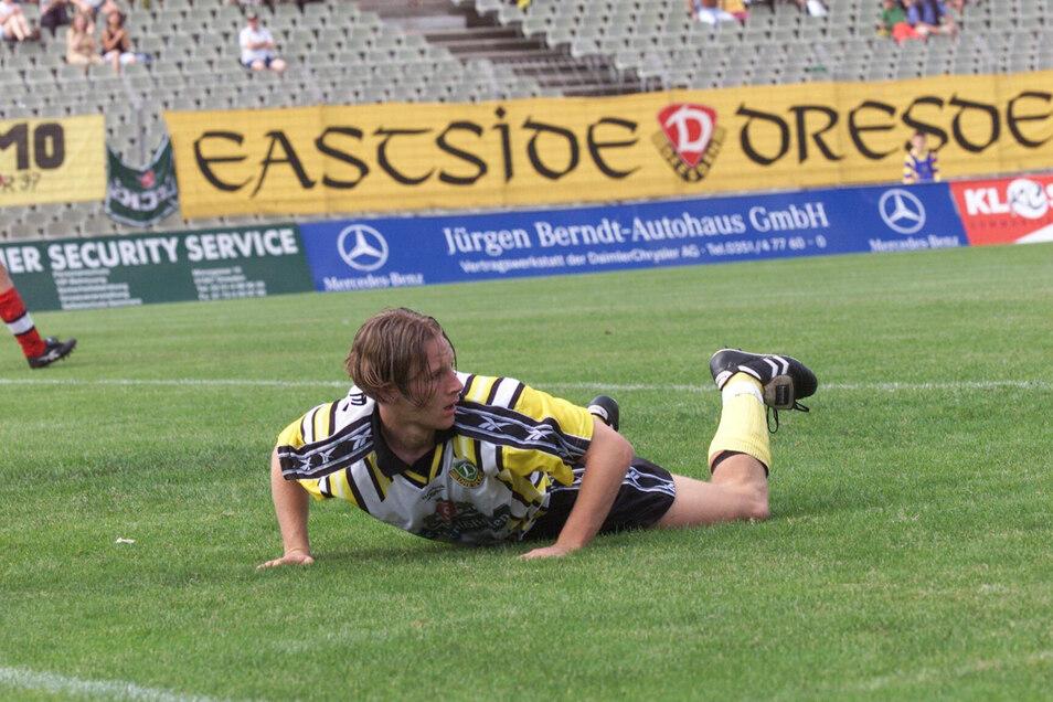 Für Dynamo bestritt Mike Möllensiep 15 Spiele in der Amateuroberliga und erzielte zwei Tore.