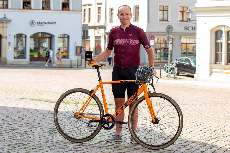 Stadtradel-Sieger Marc Rudloff: Der Ehrgeiz war groß, auch die 2.000 Kilometer in Angriff zu nehmen.