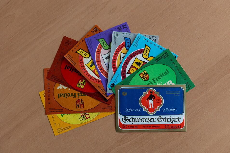 So bunt war die Produktpalette der Döhlener Brauerei. Der Schwarze Steiger wurde als Krönung der Freitaler Braukunst gefeiert.
