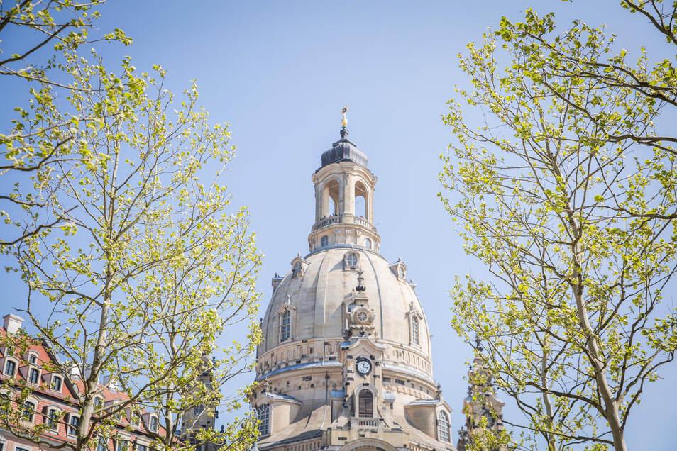 Blick auf die Frauenkirche: Zum ersten Mal werden in diesem Jahr die Kirchen zu Ostern leer bleiben.