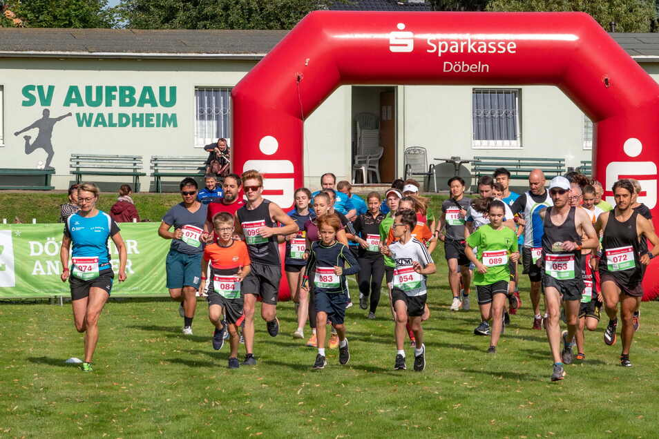 Insgesamt 118 Läufer und Walkingsportler sind beim 39. Waldheimer Eichberglauf auf die verschiedenen Strecken gegangen.