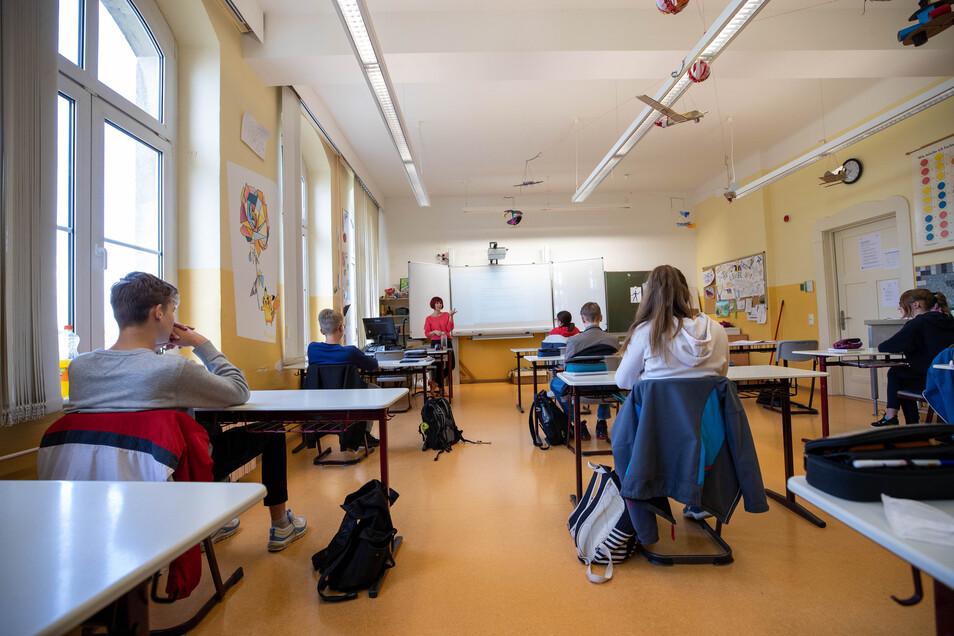 Die Oberschule Dohna hat die Klassen getrennt um den Regelungen gerecht zu werden.