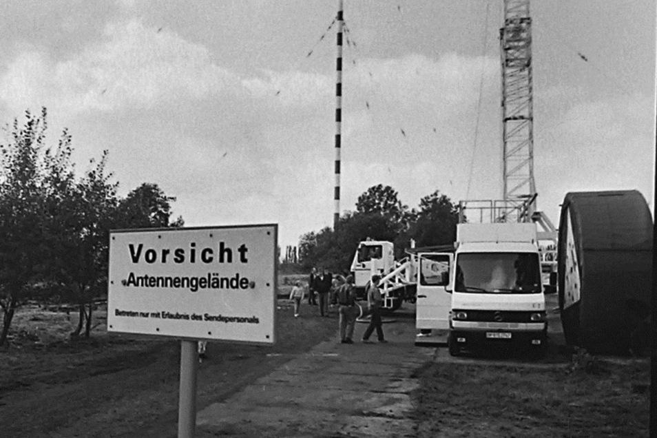 Radio Moldau wurde offenbar von einer 20-KW-Flächenantenne gesendet.