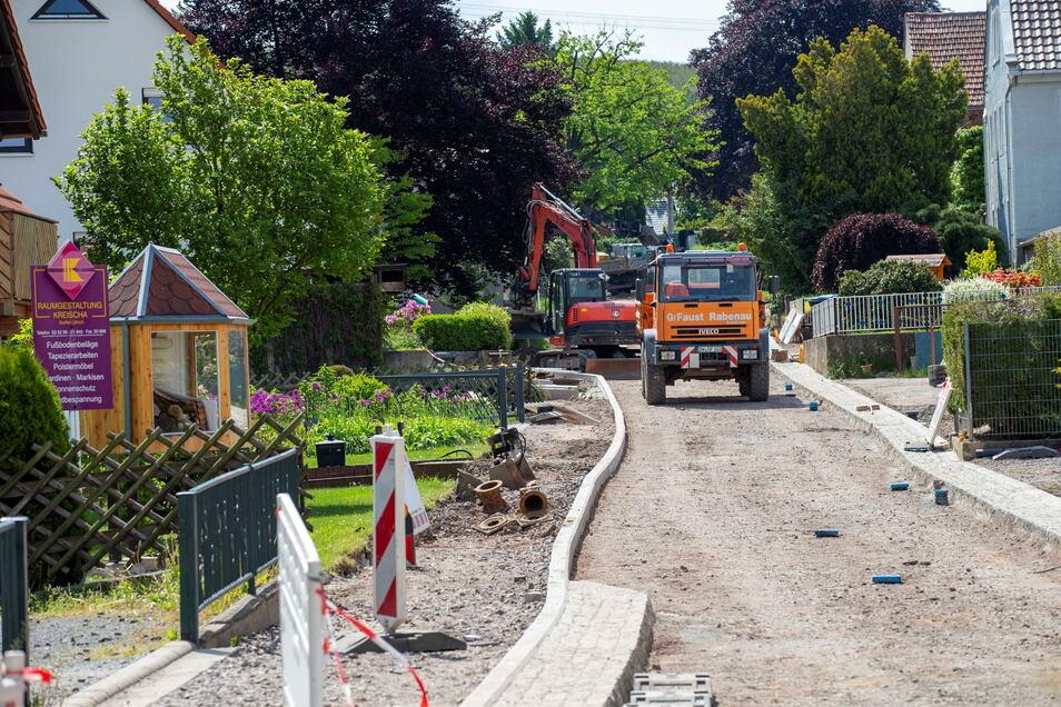 Die Sanierung der Baumschulenstraße in Gombsen steht kurz vor dem Ende.