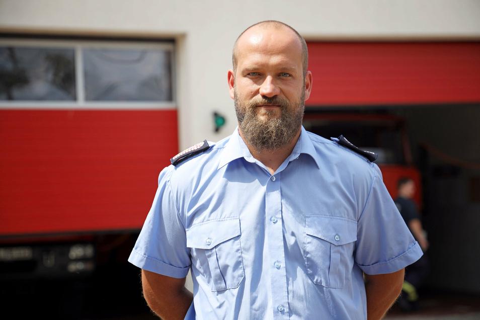 Boris Krause ist Gemeindewehrleiter in der Gemeinde Röderaue.