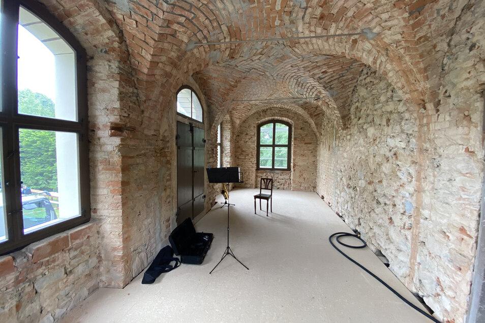 Das Balkonzimmer im Nordanbau ist nach Sanierungsarbeiten wieder zugänglich.