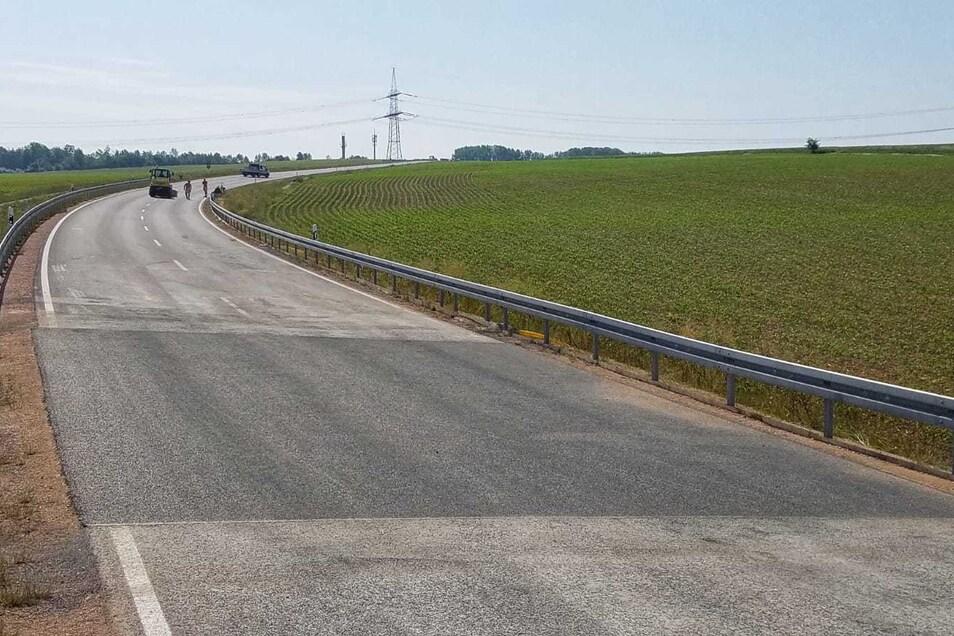 Die Bundesstraße 175 war für Reparaturarbeiten seit Freitag gesperrt.