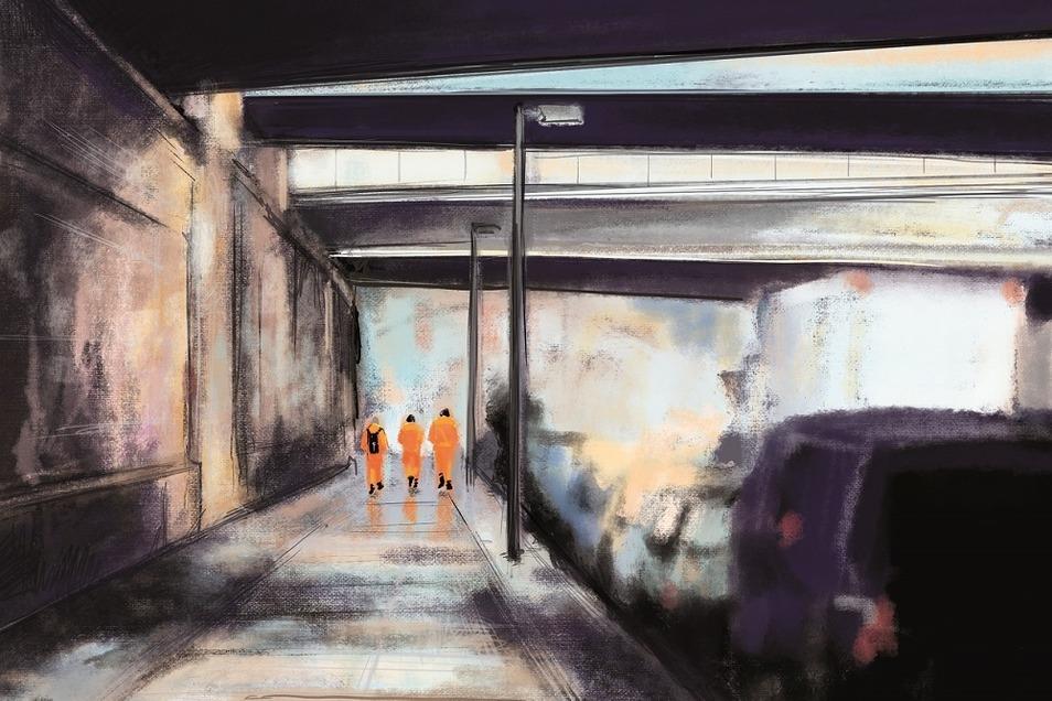 Kunst von Kendike: BOYS in orange