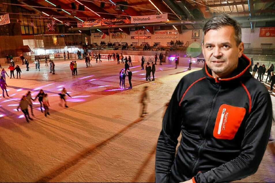Maik Tempel ist noch bis Ende des Jahres Geschäftsführer der Jonsdorfer Kur- und Tourismusgesellschaft mit der Eisarena. Auf einen Nachfolger verzichtet Jonsdorf aber vorerst.