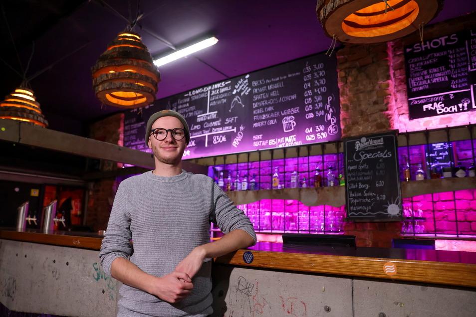 Leipzig: Nils Fischer, neuer Fachbeauftragter für Nachtkultur, steht im Club Distillery. Fischer soll dafür sorgen, dass traditionsreiche Orte trotz der Corona-Einschränkungen überleben.