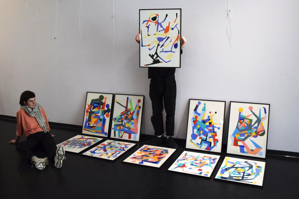 Eine neue Ausstellung wurde im Kunstraum Braugasse vorbereitet. Lisa Legain und Benjamin alias Artourette arbeiten dabei nicht das erste Mal zusammen.