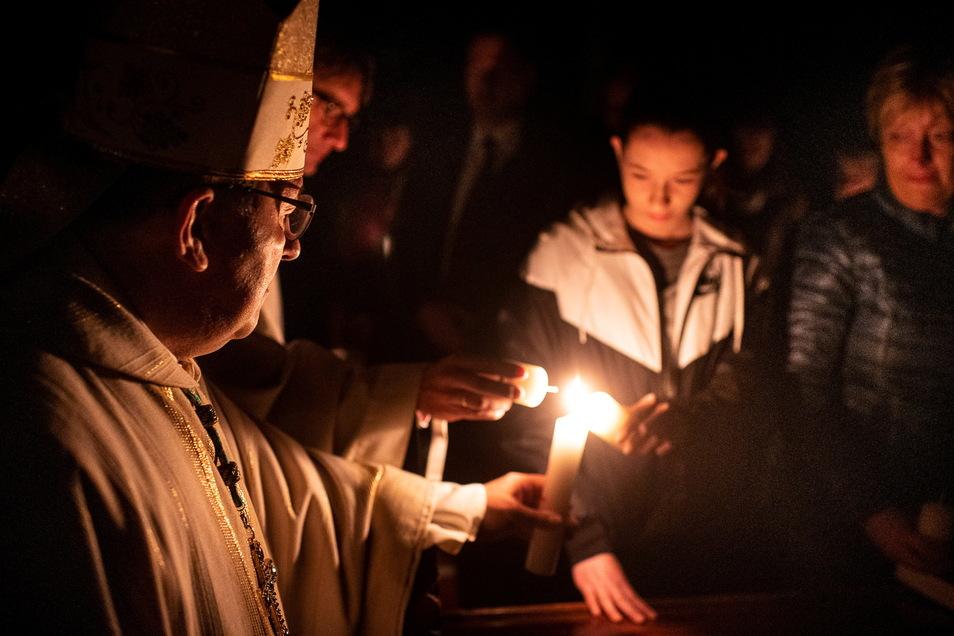 Der Görlitzer Bischof Wolfgang Ipolt zählt dank des Zuzugs polnischer Katholiken mehr Christen in seinem Bistum.