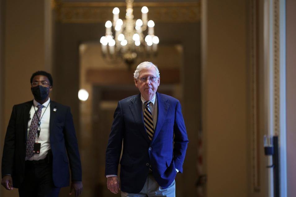Mitch McConnell, Fraktionschef der Republikaner im Senat, hat längst mit Trump gebrochen.