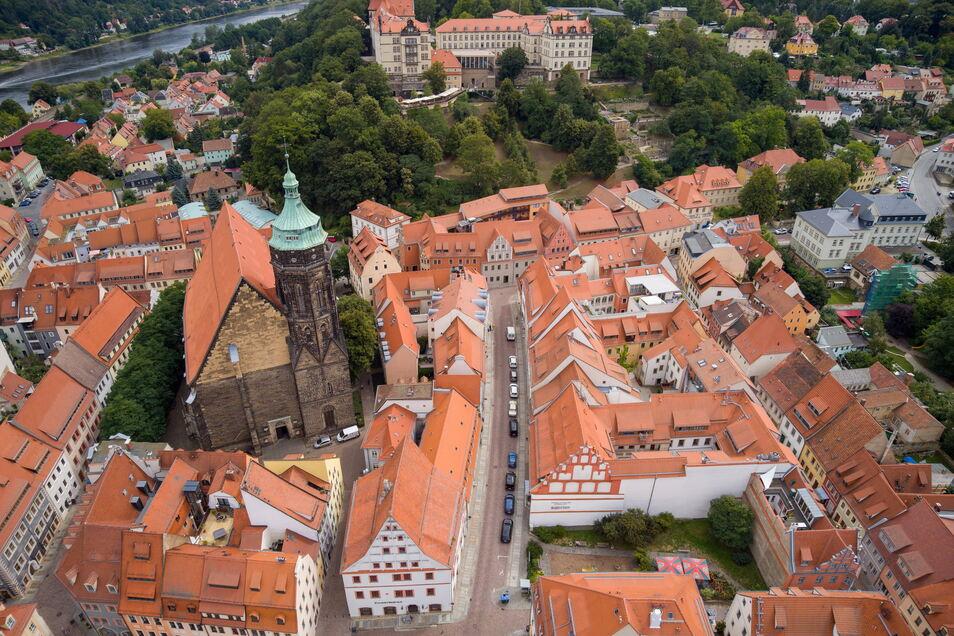 Blick auf die Pirnaer Altstadt: Wie wird sie der künftige Beigeordnete entwickeln?
