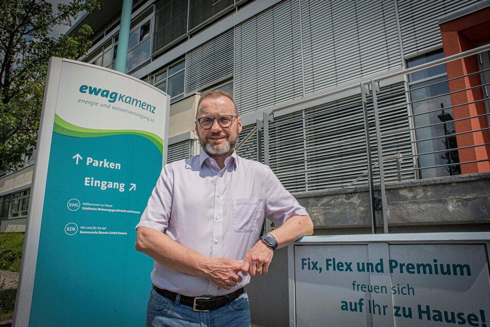 Ewag-Chef Torsten Pfuhl treibt das Fernwärmenetz in der Stadt weiter voran.