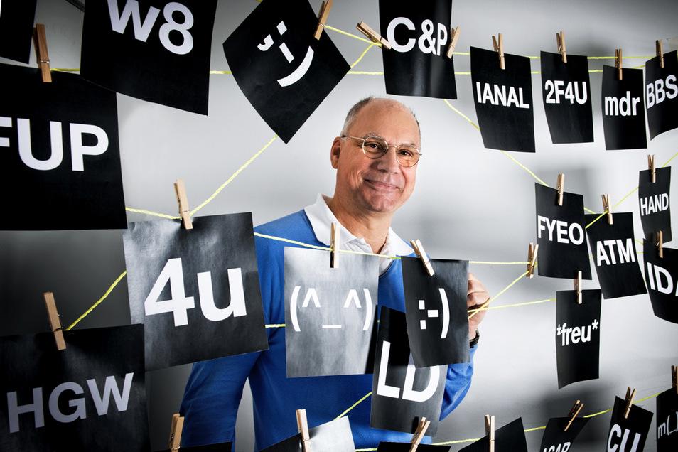 Beschäftigt sich viel mit Sprachveränderungen: Peter Schlobinski, Vorsitzender der Gesellschaft für deutsche Sprache.