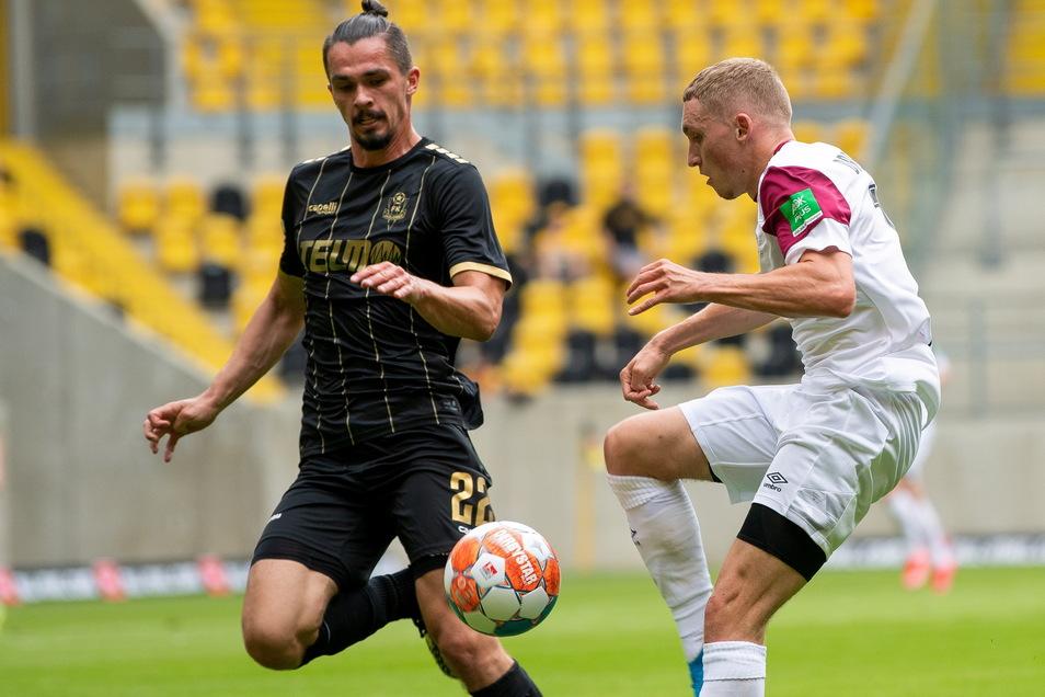 Neuzugang Luca Herrmann absolvierte sein erstes Spiel für Dynamo und bereitete gleich den ersten Treffer vor.