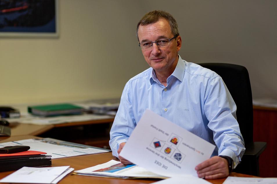 Jörg Schneider hofft als Präsident des Hainsberger SV auf die Zustimmung der Mitglieder zu den Fusionsplänen.