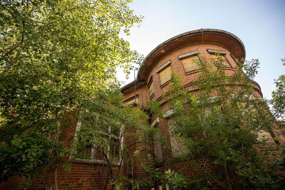 Das markante Gebäude mit dem runden Anbau soll in die künftige Mafa-Gestaltung einbezogen werden.