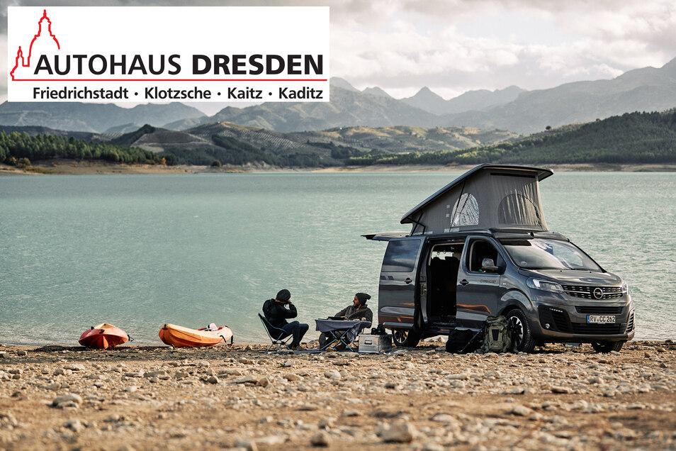 Das Autohaus Dresden unterstützt uns bei diesem Adventsgewinnspiel - und stellt einen der Hauptpreise: ein Wochenende mit einem Opel Zafira Life Crosscamp.