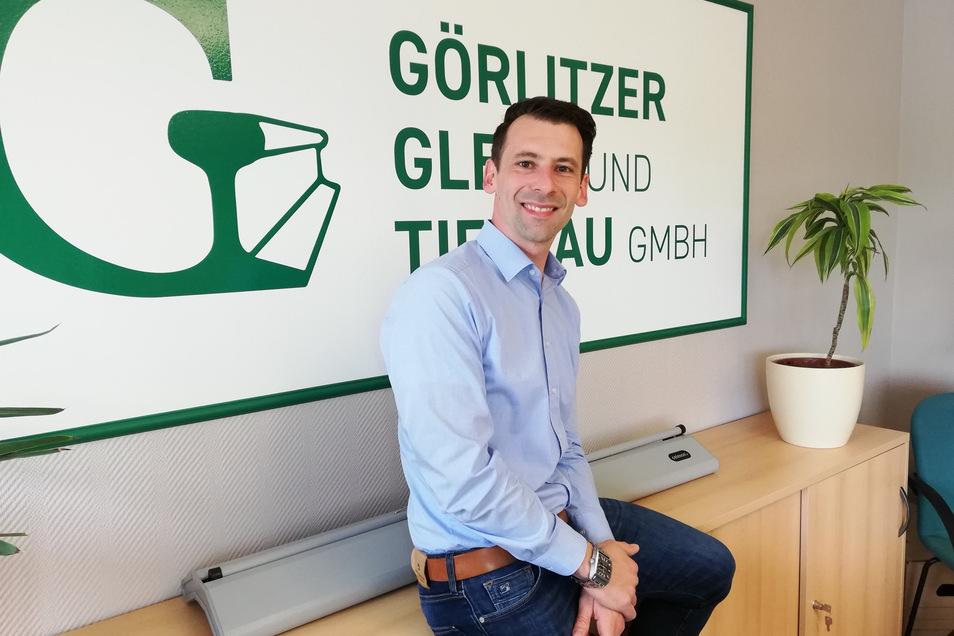 Michael Freiwerth ist der Geschäftsführer der Görlitzer Gleis- und Tiefbau GmbH.